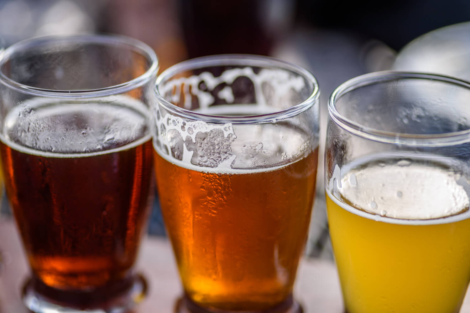 A refreshing fleet of craft beverages found and one of the many Wisconsin Dells breweries.